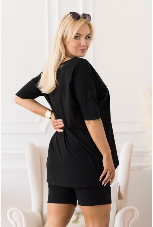 modny zestaw plus size czarny