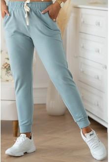 seledynowe spodnie plus size