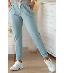 Seledynowe spodnie dresowe - MICHAELA