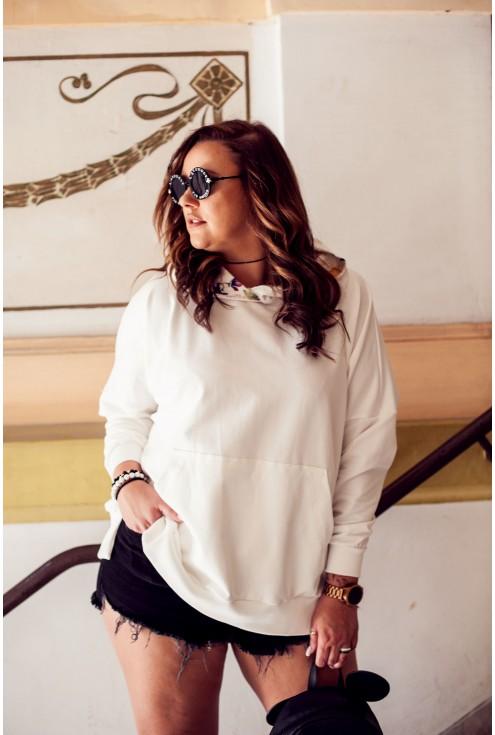 biała wygodna bluza XXL