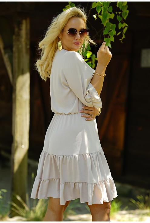 beżowa sukienka plus size