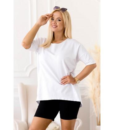 Biało-czarny zestaw dresowy ze spodenkami - Naya