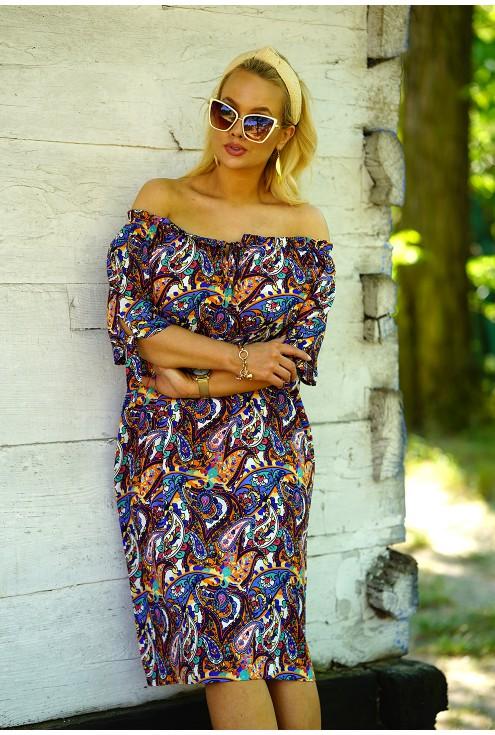 Sukienka hiszpanka w orientalny wzór
