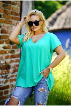 turkusowa bluzka plus size Nela