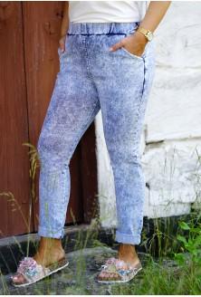 Jasne elastyczne spodnie plus size