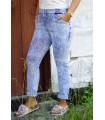 Jasne elastyczne spodnie plus size z imitacji jeansu - Thira