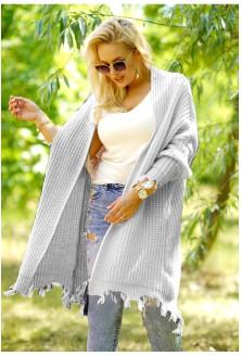 jasno-szary sweter boho Shanon