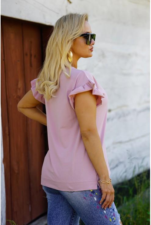 pudrowa bluzka Ferri