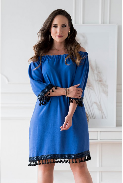 Chabrowa sukienka hiszpanka