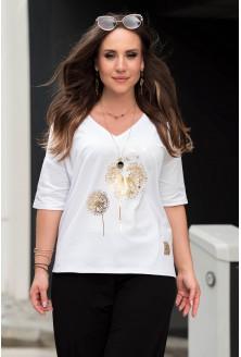 bialy t-shirt plus size xxl