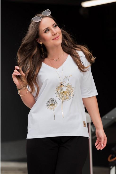 biały t-shirt bawełniany xxl