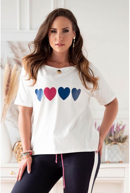 biało-granatowy dres plus size dla kobiet w sklepie XL-ka.pl