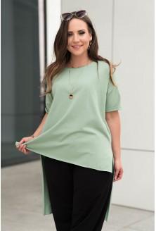 Zielona tunika z dłuższym tyłem xxl