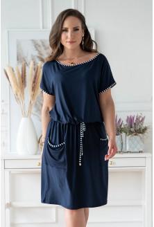 Granatowa sukienka plus size z kieszeniami xxl