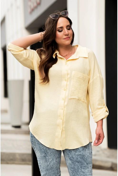 żółta koszula plus size xxl