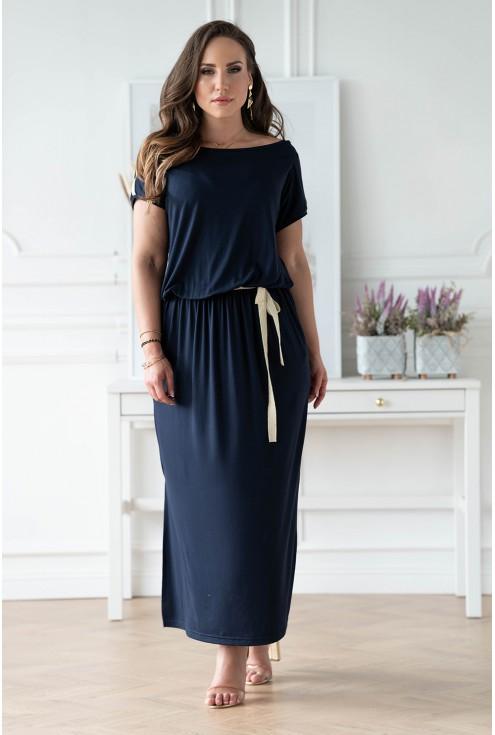 Granatowa sukienka w dużych rozmiarach w sklepie XL-ka