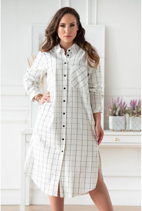 Sukienka koszulowa w dużych rozmiarach dla kobiet plus size