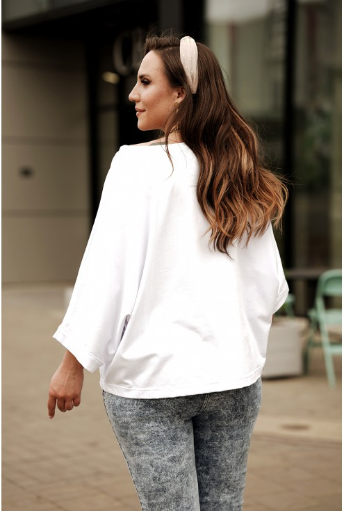 biała bluza xxl