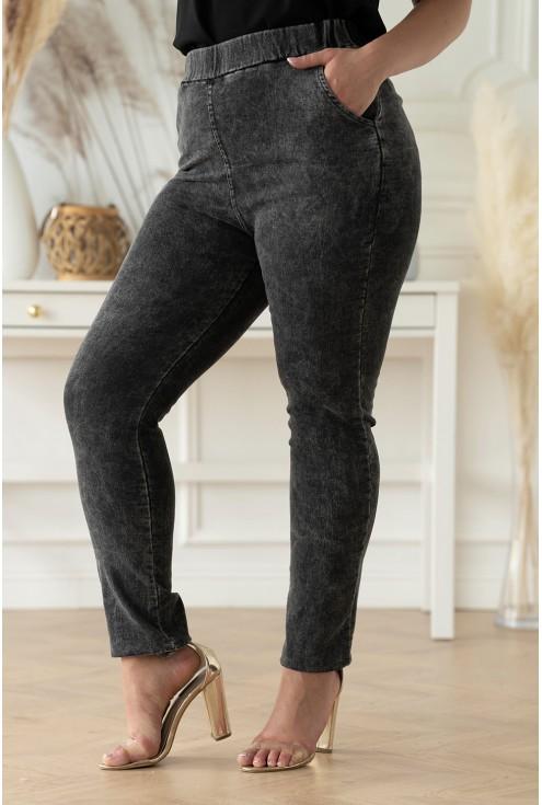 szaro-grafitowe spodnie Thira