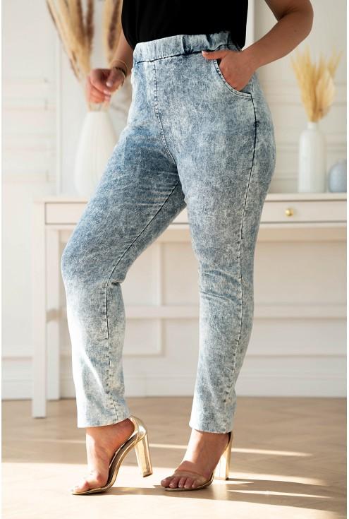 Jasne elastyczne spodnie Thira