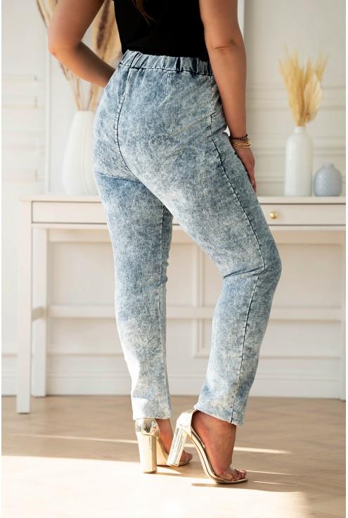 jasne spodnie z imitacji jeansu XXL