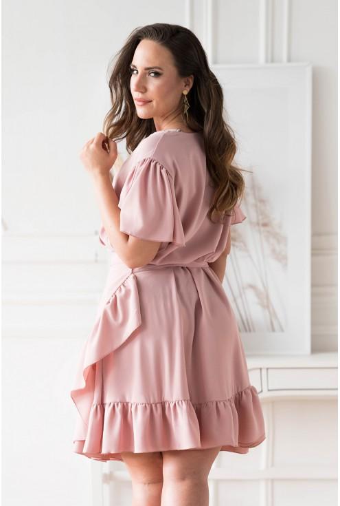 pudrowa sukienka plus size Celeste