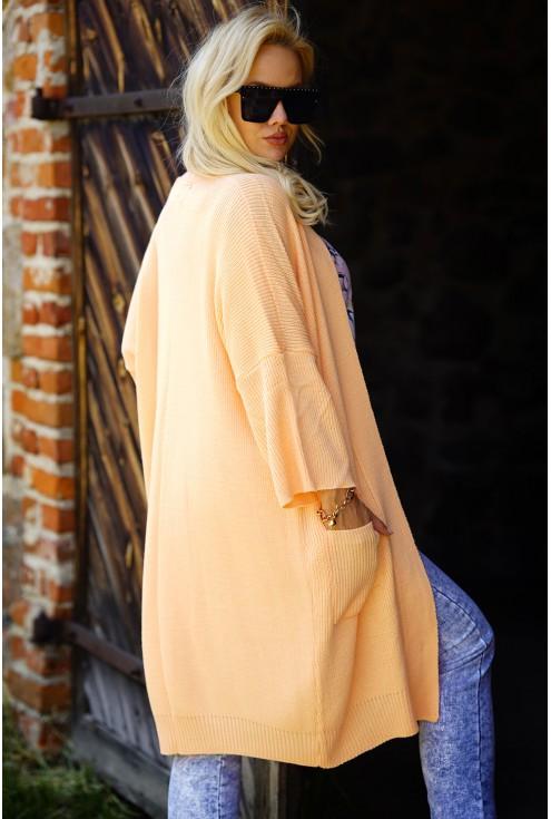 pomarańczowy kardigan plus size Isana