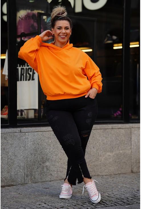 pomarańczowa bluza XXL Monata