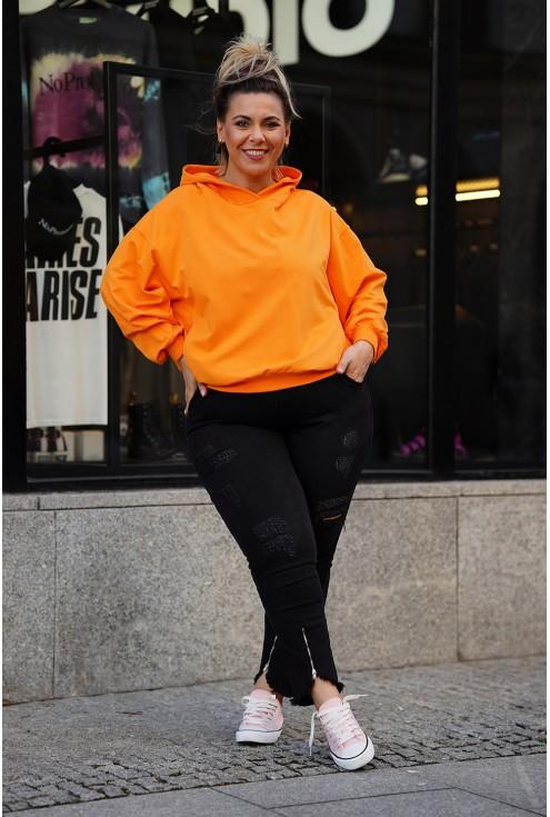 pomarańczowa oversizowa bluza