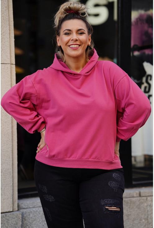 ciemno-różowa bluza plus size