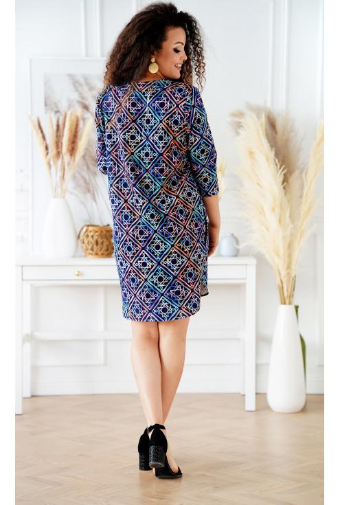 sukienka z kolorowym wzorem Chiara