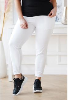 białe spodnie dresowe Vansi