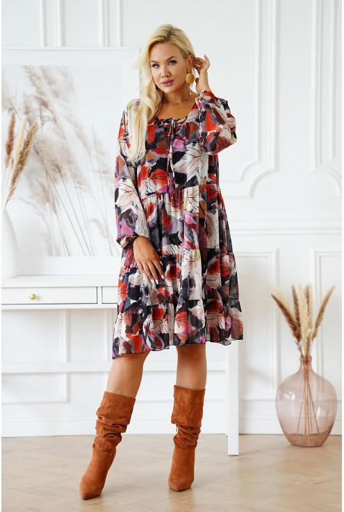 grafitowa sukienka plus size Esma