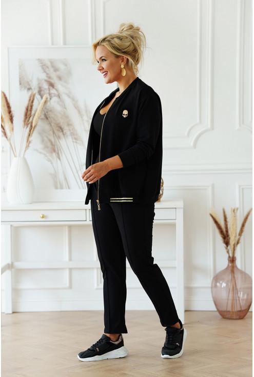 czarny zestaw dresowy bluza + spodnie