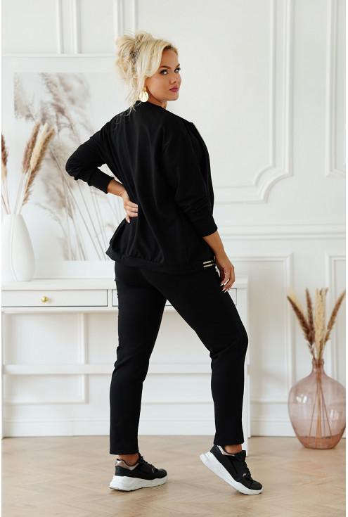 czarny dresowy zestaw plus size