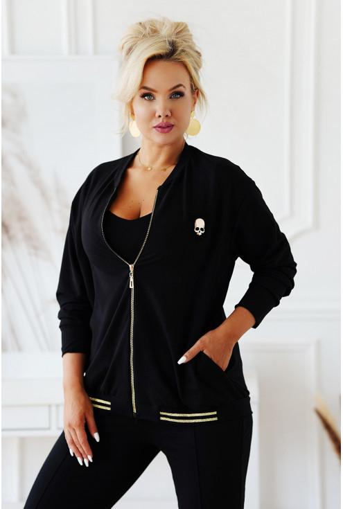 czarna dresowa bluza XXL