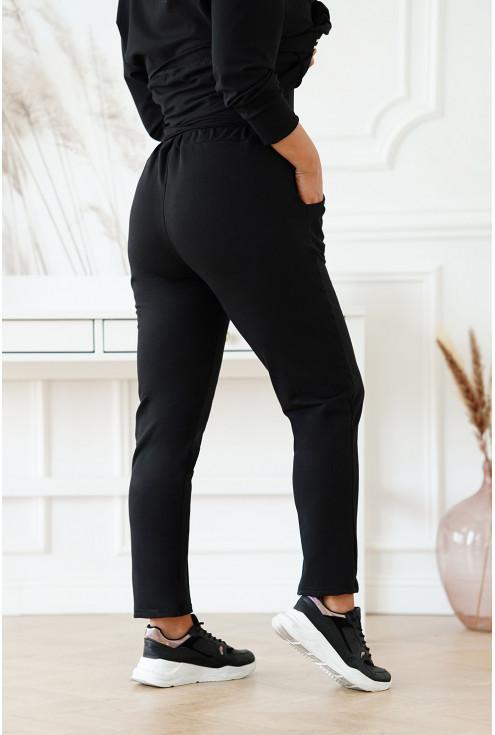 czarne dresowe spodnie XXL