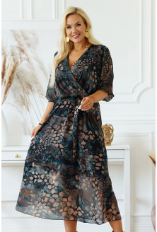 sukienka plus size z kopertowym dekoltem