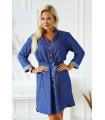 Sukienka szmizjerka z wiązaniem w pasie w kolorze niebieskiego jeansu - Tieri