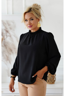 Czarna wizytowa bluzka plus size