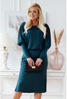 Butelkowa sukienka z prążkiem plus size