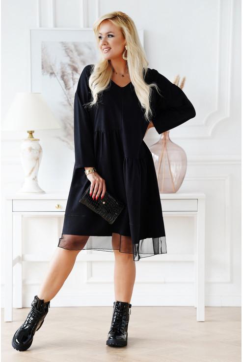 uniwersalna czarna sukienka plus size