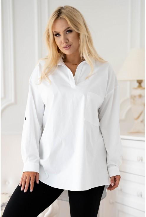 Biała koszula z kieszonką