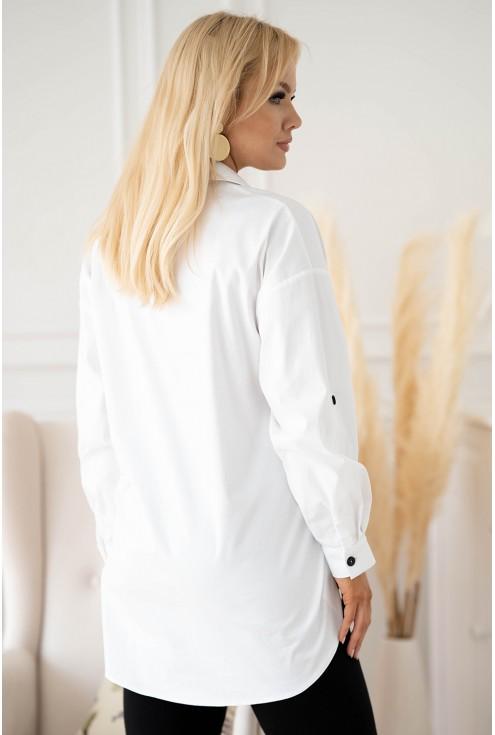 biała koszula w dużych rozmiarach