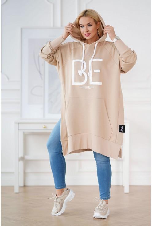 długa beżowa bluza