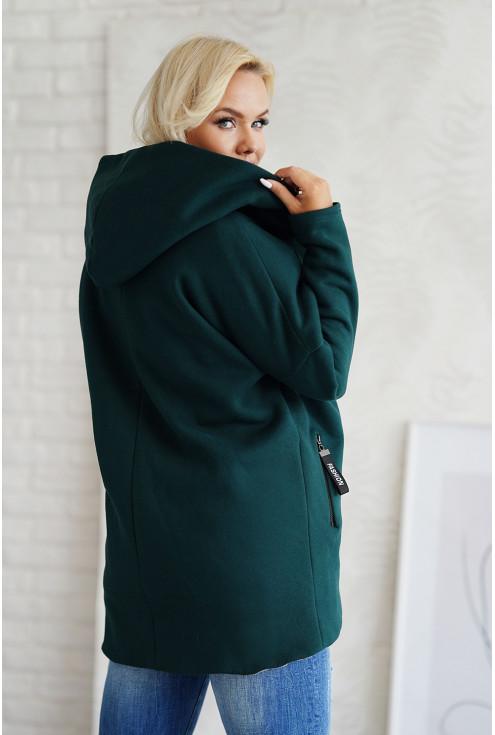 butelkowy płaszcz z długim rękawem