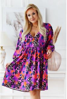 Kolorowa rozkloszowana sukienka plus size