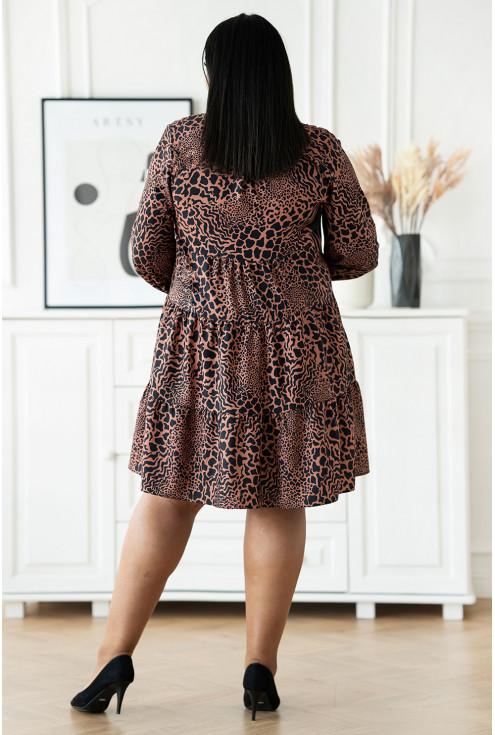 czarna sukienka w cętki duże rozmiary