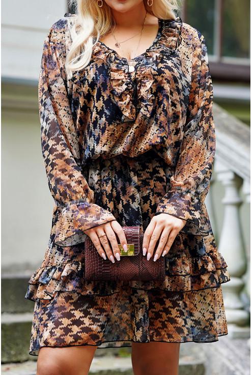 czarna szyfonowa sukienka XXL
