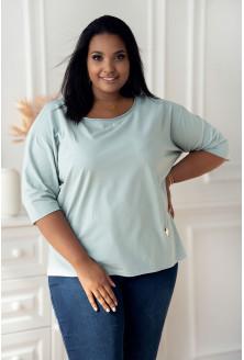 seledynowa bluzka plus size